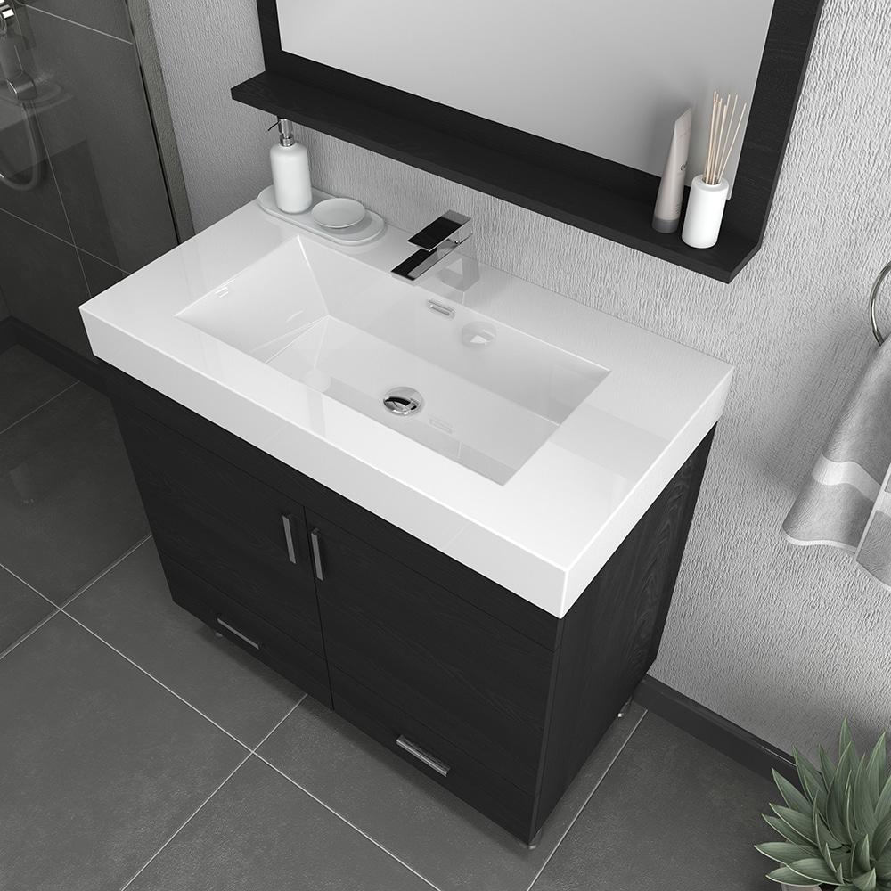Alya Bath Ripley 36 Inch Modern Bathroom Vanity Black